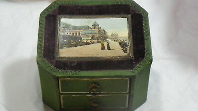 Antique The Ceramic Hair Pin Toilet Cabinet Victorian Scarborough The Spa 1902