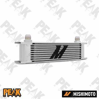 Mishimoto Universal 10 Row Oil Cooler -10AN Fittings SILVER