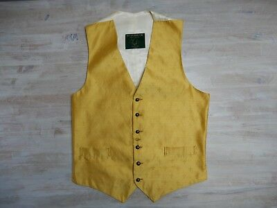 63 FAVOURBROOK VEST WAISTCOAT JERMYN STREET LONDON MADE IN ENGLAND GOLD size M