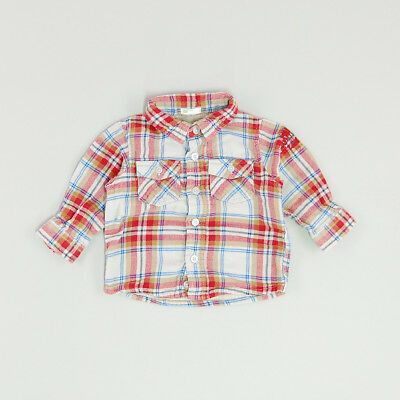 Camisa color Rojo marca Benetton 3 Meses
