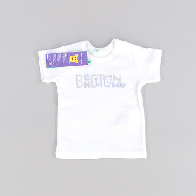 Camiseta color Blanco marca Benetton 1 Mes