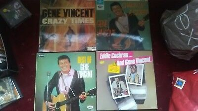 GENE VINCENT Shakin Up A Storm Crazy Times Best Of & Eddie Cochran Vinyl LP lot