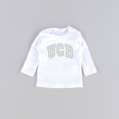 Camiseta color Blanco marca Benetton 0 Meses