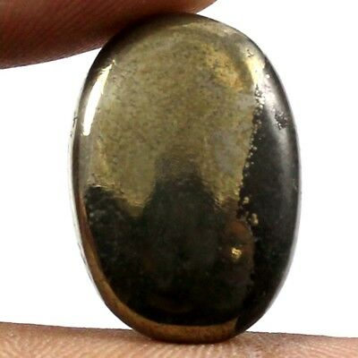 21.25 cts 100% Natural Designer Apache Gold Pyrite Cabochon Oval Loose Gemstone