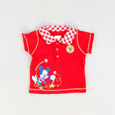 Polo color Rojo marca Disney 3 Meses