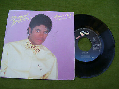 """MICHAEL JACHSON """" Thriller / Thinds i do for you """" Epic 1981"""
