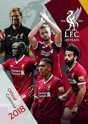 Liverpool Fc Official A3 2018 Calendar Month To View New Gift