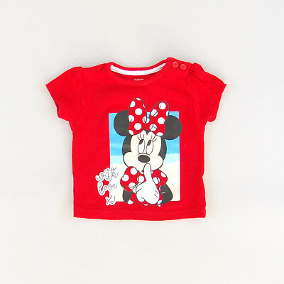 Camiseta color Rojo marca Disney 6 Meses