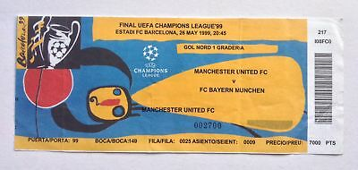 Man Utd v Bayern Munich 1999 Champions League Final Ticket Manchester United
