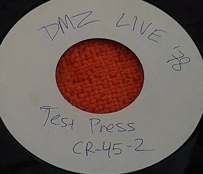 """DMZ - Live!! 1978!! - 1986 Crypt 7"""" EP White Label TEST PRESSING Punk Collection"""