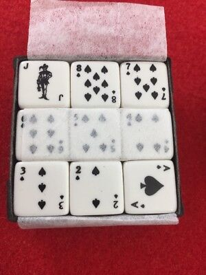 White Deck of Playing Card Dice Set - FOR More Colors see My other Listings