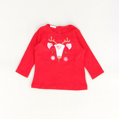 Camiseta color Rojo marca Benetton 6 Meses