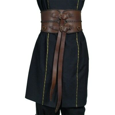Medieval Leather Ladies Broad Belt Steampunk Larp Renaissance sca COSPLAY