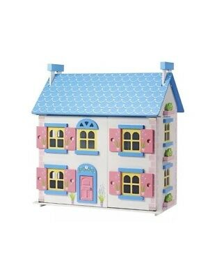 Wooden Dolls House Cottage, Handmade Children's Play Home