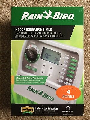 Rain Bird SST400I Simple To Set Indoor Timer, 4-Zone, New, Free Ship to US48!