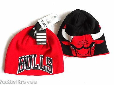 adidas CHICAGO BULLS NBA Reversible Red BEANIE TUQUE TAGS OSFA Basketball USA