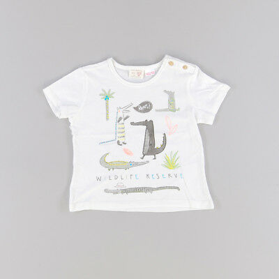 Camiseta color Blanco marca Zara 12 Meses