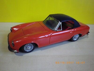 LOTUS ELAN RED - TIN FRICTION CAR MADE IN JAPAN BY BANDAI 1960s, 2 door, NO BOX