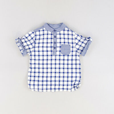 Camisa color Azul marca Rebel 24 Meses