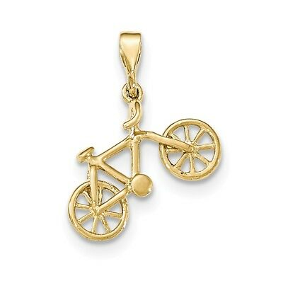 14kt Yellow Gold Polished Bicycle Pendant - YC1255