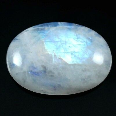 21.05 cts Natural Nice Designer Rainbow Moonstone Cabochon Oval Loose Gemstone