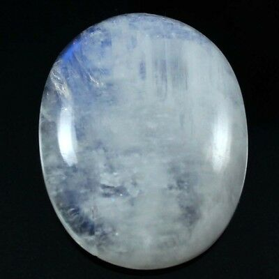 47.25 cts Natural Nice Designer Rainbow Moonstone Cabochon Oval Loose Gemstone