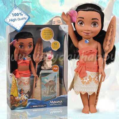 Disney Moana Maui Princess Adventure Collection Action Figure Doll Toy Gifts PVC