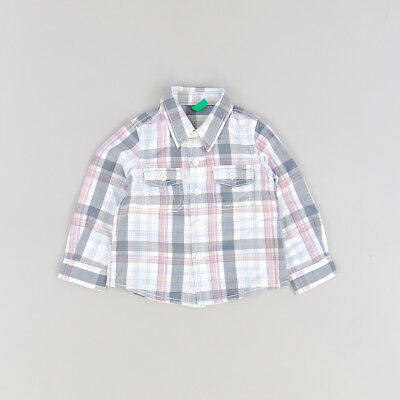 Camisa color Gris marca Benetton 9 Meses