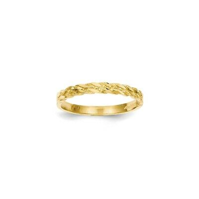 14k Yellow Gold Diamond-cut Rope Ring - C2860
