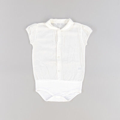 Camisa body color Blanco marca Calamaro 24 Meses