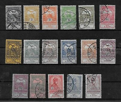 HUNGARY - 1913 Flood Relief Fund Complete Set - VFU