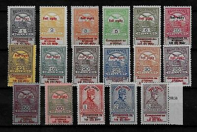 HUNGARY - 1914 War Charity Fund Complete Set - MH