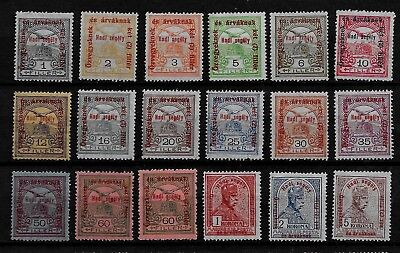 HUNGARY - 1915 War Charity Fund Complete Set - MH