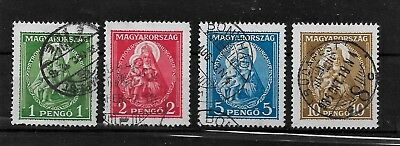 HUNGARY - 1932 Madonna & Child Complete Set - VFU