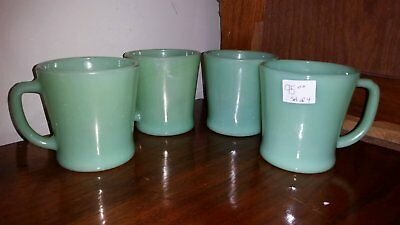 Group Lot of 4 Jadeite Fire King Mugs