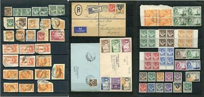 Northern Rhodesia. Mixed Lot of Postmarks on Piece, Covers and some MNH Stamps