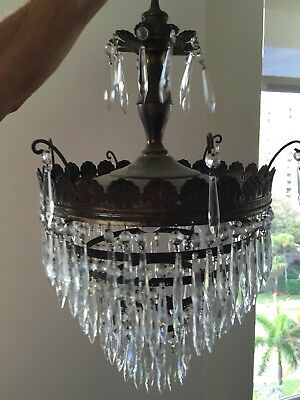 Estate Crystal  Wedding Cake Chandelier
