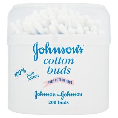 Johnson Baby Cotton Buds Pack 6 Total 1200 Gently Cleans Dries Babys Fingers NEW