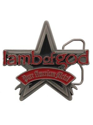 Lamb of God Pure American Metal LOG Belt Buckle