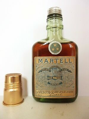 Mini Bottle Cognac Martell Flask *** Old 10 Cl Miniature
