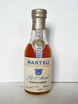 Mini Bottle Cognac Martell Cordon Argent Very Old 3 Cl Miniature