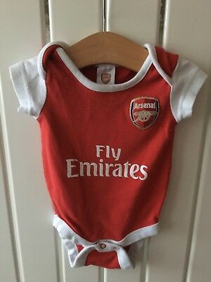 Baby Boy's Clothes 3-6 Months - Arsenal Theme Red & White Bodysuit/Vest
