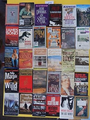 Lot of 30 Mixed Audio Books on Cassettes. L103