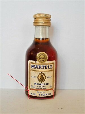 Mini Bottle Cognac Martell Vsop Medaillon (1) Air France  0,03 L Miniature