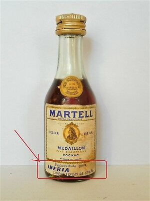 Mini Bottle Cognac Martell Vsop Medaillon (1) Iberia Espana 3 Cl Miniature