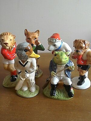 6 x Beswick Sporting Characters Collection, boxing, football cricket, mint