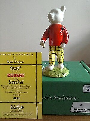 Beswick Rupert with Satchel 18/2000 limited edition, mint condition