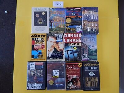 Lot of 12 Mixed Audio Books on Cassettes. L123