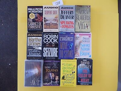 Lot of 12 Mixed Audio Books on Cassettes. L120