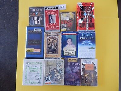 Lot of 12 Mixed Audio Books on Cassettes. L128